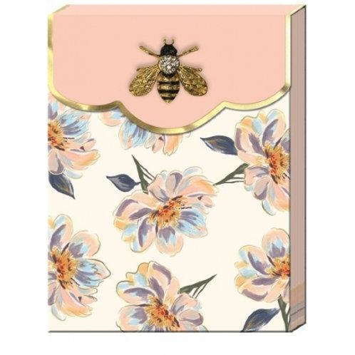 Carnet de notes avec broche - Florette Magnolia