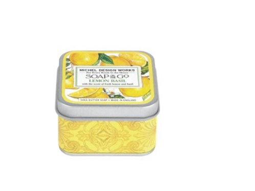 Savon voyage dans boîte métal - Citron & Basilic