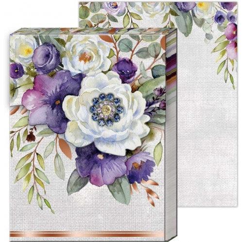 Carnet de notes avec broche - Lilac & Sage
