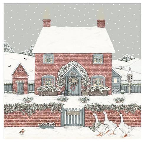 Set de cartes de Noël - Cottage