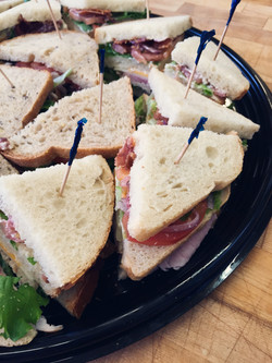 Catering sandwich lunch tray