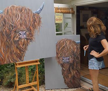 sam fenner art studio highland cows