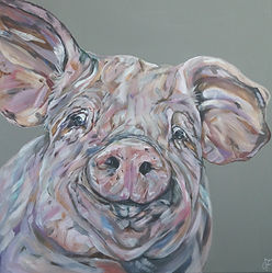 Chops_edited.jpgOriginal pig painting by Sam Fenner