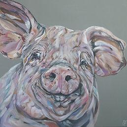 Chops_edited.jpgOriginal pig painting by Sam Fenner