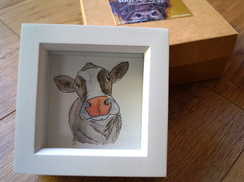 Moodle. Original and unique cow artwork, free gift box