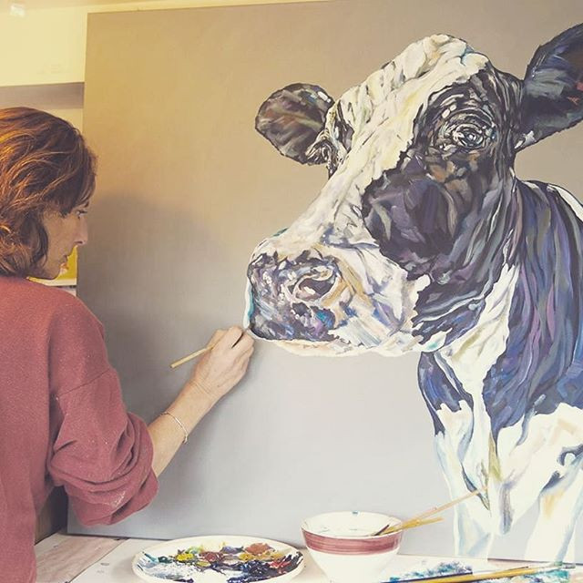 Working on a 90x90cm canvas today_#bigco