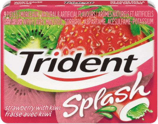 Trident Splash Strawberry/Kiwi Gum - 9x10 - .40lb(181g)