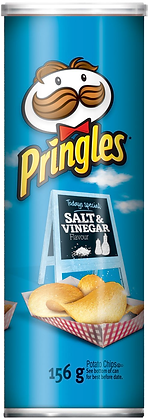 Pringles Salt & Vinegar Potato Chips - 156g
