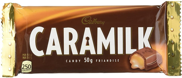 Cadbury Caramilk Chocolate Bars  48/Case