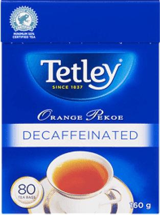 Tetley Decaffeinated Orange Pekoe Tea 80 Bags - 160g