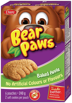 Dare Bear Paws Baked Apple Cookies 6 Pouches - 240g