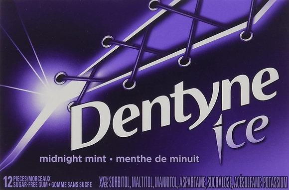 Dentyne Ice Bubble Gum, Midnight Mint - 12x12 - .44lb(204g)