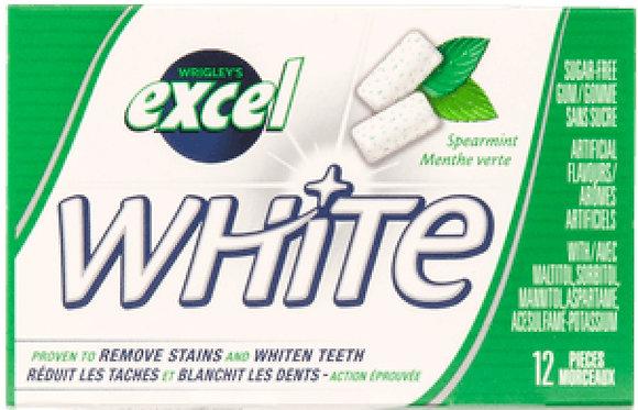 Excel White Sugar-Free Gum, Spearmint - 12x12 - .57lb(259g)