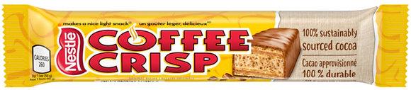 Nestle Coffee Crisp Chocolate Bars  48/Case