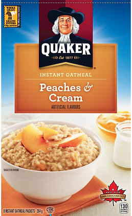 Quaker Peaches & Cream Instant Oatmeal - 264g