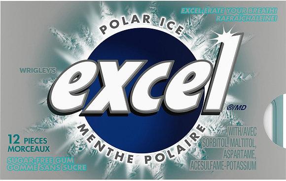 Excel Sugar-Free Gum, Polar Ice - 12x12 -  .62lb(281g)