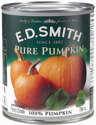 E.D. Smith 100% Pumpkin Pie Filling - 796g