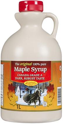Maple Crest Canada Grade A Dark Maple Syrup - 998g