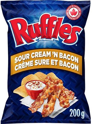 Ruffles Sour Cream 'n Bacon Potato Chips - 200g
