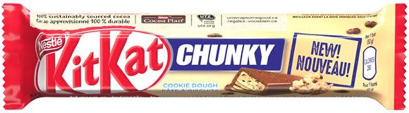 Nestle Kit Kat Chunky Cookie Dough Chocolate Bars 4 Pack