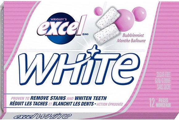 Excel White Sugar-Free Gum, Bubblemint - 12x12 - .62lb(281g)