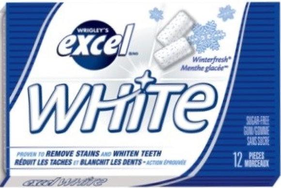Excel White Sugar-Free Gum, Winterfresh - 12x12 - .66lb(299g)