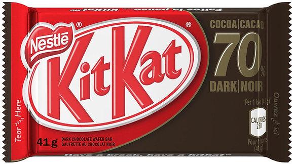 Nestle Kit Kat Dark 70% Chocolate Bars 4 Pack
