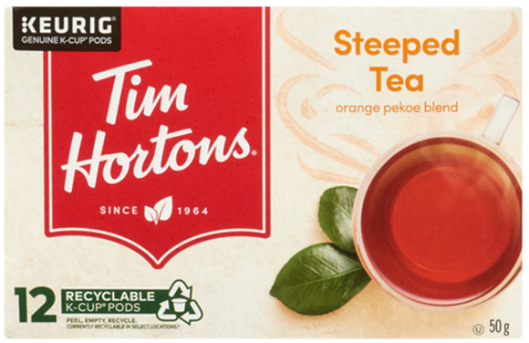 Tim Hortons Orange Pekoe Steeped Tea 12 K-Cups - 50g