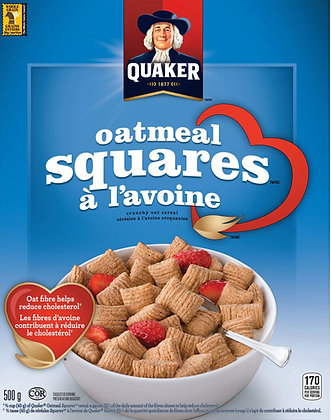 Quaker Oatmeal Squares Cereal - 500g