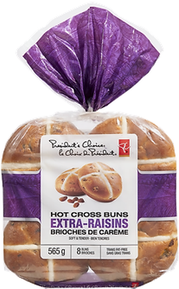 PC Hot Cross Buns Extra Raisins - 565g
