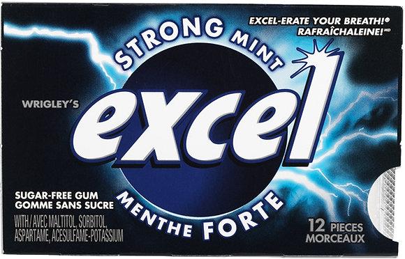 Excel Sugar-Free Gum, Strong Mint - 12x12 - .66lb(299g)