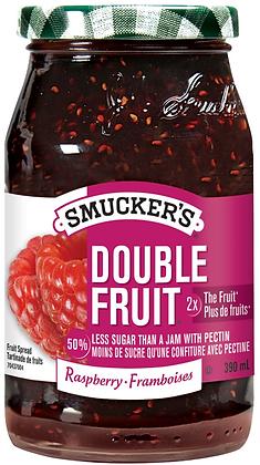 Smucker's Double Fruit Raspberry Fruit Spread - 390g