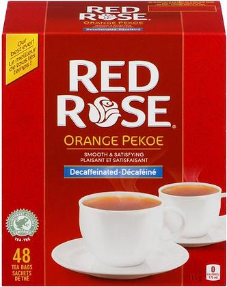 Red Rose Decaffeinated Black Tea - 48 Bags 115g