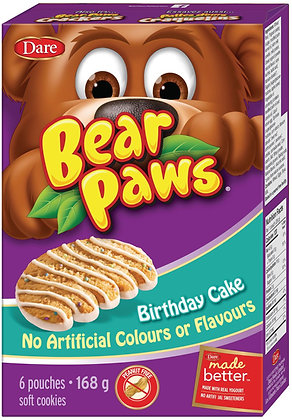 Dare Bear Paws Birthday Cake Soft Cookies 6 Pouches - 168g