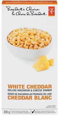 PC White Cheddar Deluxe Macaroni Dinner - 200g