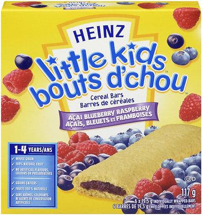 Heinz Little Kids Acai Cereal Bars Blue Raspberry - 117g