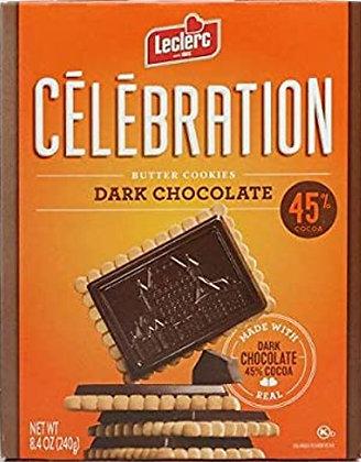Celebration Dark Chocolate 45% Cookies - .53lb(240g)