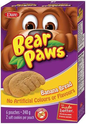 Dare Bear Paws Banana Bread Cookies 6 Pouches - 240g