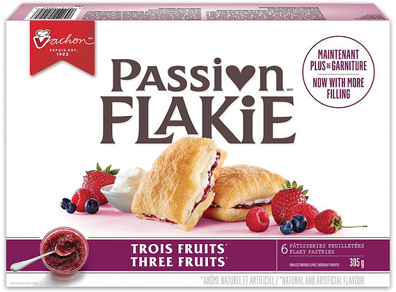 Vachon Passion Flakie Three Fruits Pastries - 305g - 6 Pack