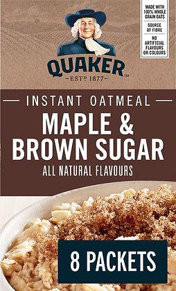Quaker Maple & Brown Sugar Instant Oatmeal - 344g