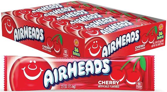 Airheads Taffy Bars Cherry - 36ct - 562g