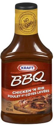 Kraft Chicken & Rib BBQ Sauce - 455g
