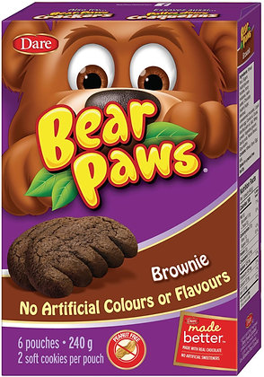 Dare Bear Paws Brownie Soft Cookies 6 Pouches - 240g