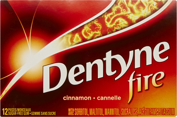 Dentyne Fire Bubble Gum, Cinnamon - 12x12 - .44lb(204g)