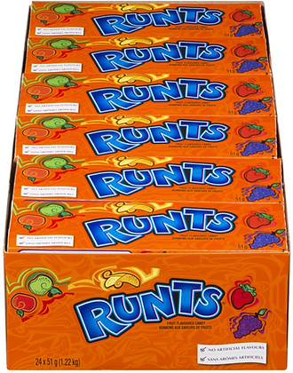 Runts Classic Fruits Candy - 24ct - 1224g