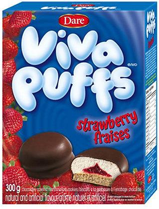 Dare Viva Puffs Strawberry Cookies - 300g