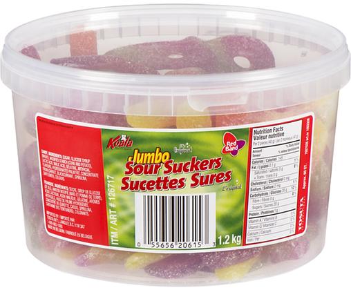 Jumbo Sour Suckers Tub - 60ct - 1225g