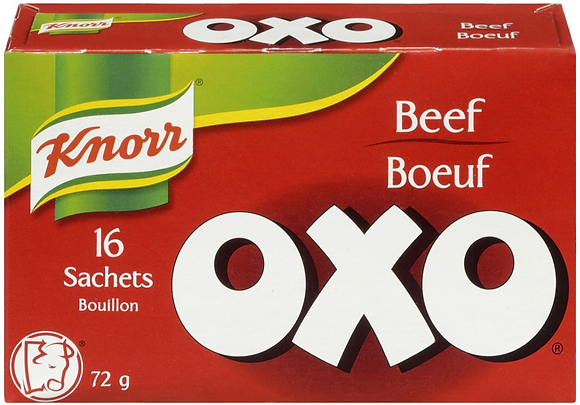 Knorr Oxo Bouillon Beef - 16 Sachets - 72g