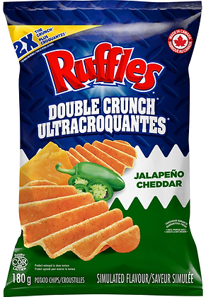 Ruffles Double Crunch Jalapeño Cheddar Potato Chips - 180g