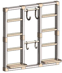 "48"" x 48"" VersaCaddy® Organization Kit with Uni-Frame™"